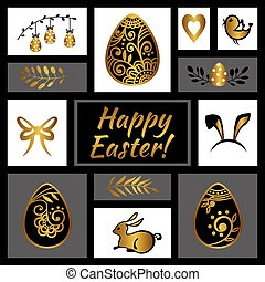 Easter greeting card. Happy Easter. Easter egg. Vector...