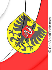 Flag of Aalen (Baden-Wurttemberg), Germany. - 3D Flag of...