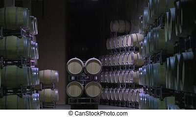 Bordeaux Saint Emilion bottling - Handling filled oak wine...