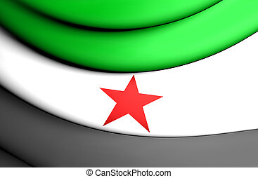 Nationalist Flag of Extremadura - 3D Nationalist Flag of...