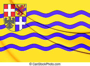 Flag of Salland, Netherlands. - 3D Flag of Salland,...