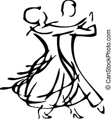 Dancing Couple - an abstract outline of a dancing couple