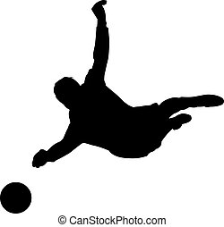 Goalkeeper - a silhouette of a goalkeeper during soccer