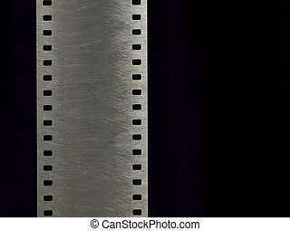 35mm Metal and silver - Film of 35mm with metal texture...
