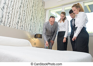 Hotel staff undergoing training