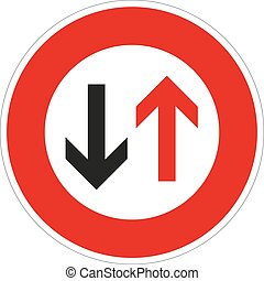 grant the oncoming traffic will pre - a symbol of an...
