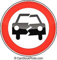 Accident - a sign symbolizing an accident