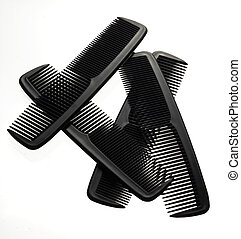 Combs on White Background