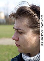 profil,  portrait, femme