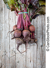 Red Turnips - Fresh red turnips, just picked from the...