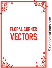 floral corners background
