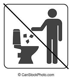 Do not litter in toilet icon 4 - Do not litter in toilet...