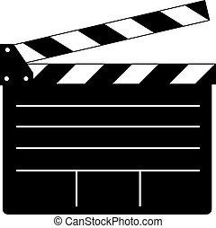 Clapperboard - an illustration of a black and white...
