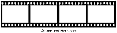 Filmstrip - an illustration of an old filmstrip