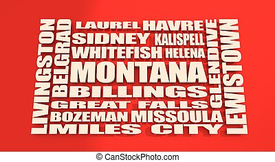 Montana state cities list - Image relative to USA travel....
