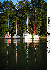 Yachting in Poland on Mazury lakes