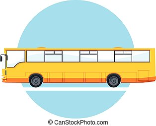 Vector yellow city bus. - Vector yellow city bus...