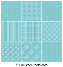 Turquoise tiling textures collection