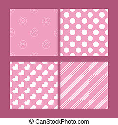 Seamless tiling pink and white textures