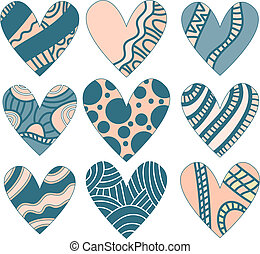 Beautiful heart collection