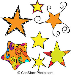 Whimsical star collection