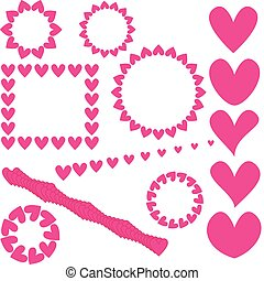 pink heart collection
