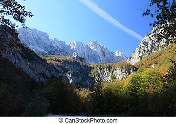 Beautiful Alps and untouched wilderness in West Slovenia, Europe.