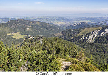 View of Tatra Mountains from hiking trail Poland Europe