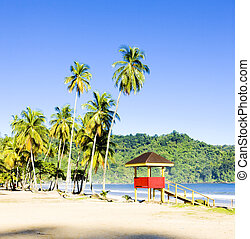 cabin on the beach; Maracas Bay; Trinidad - cabin on the...