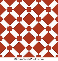 moroccan zellige seamless - white and red mosaic moroccan...