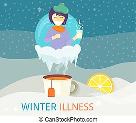Winter Illness Season People Design - Winter illness season...