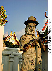 What Pho - Statue in the temple What Pho, Thailand
