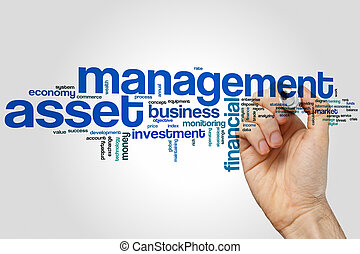 Asset management word cloud concept