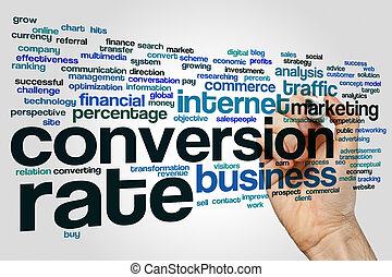 Conversion rate word cloud - Conversion rate concept word...