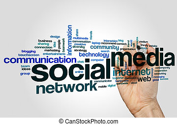Social media word cloud - Social media concept word cloud...