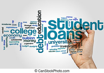 Student loans word cloud - Student loans concept word cloud...