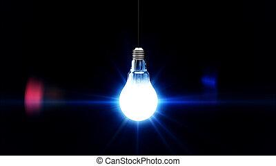 light bulb lit