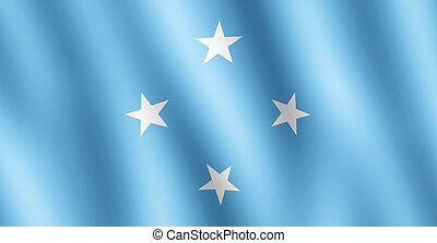 Flag of Somalia waving in the wind giving an undulating...