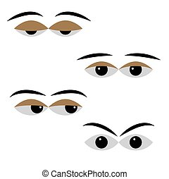 eye vector with different moods on a white background...