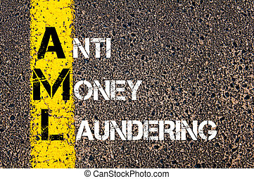 Business Acronym AML Anti Money Laundering - Concept image...