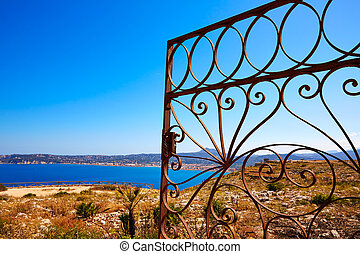 Javea Mediterranean fence in San Antonio Cape of Alicante...