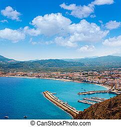 Xabia Javea Mediterranean village in Alicante aerial view