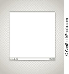 Opened browser window template. Past your content into it