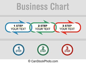 Business strategy, flow of succes, illustration with copy...