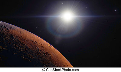Procedural generated image of Mars - 3d Procedural generated...