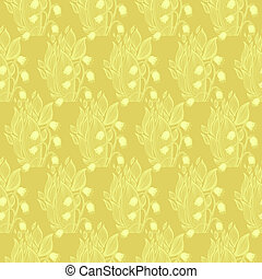 Lilies of the valley flower. Wallpaper textile seamless pattern.