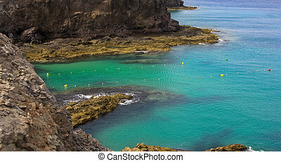 Beautiful seascape in Lanzarote island, Spain