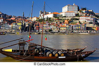 wine boats - Tipical wine boats (rebelos) in the Douro...