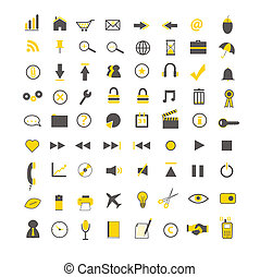 Yellow Web and Business Icons