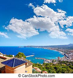 Javea Xabia village aerial in Mediterranean spain - Javea...